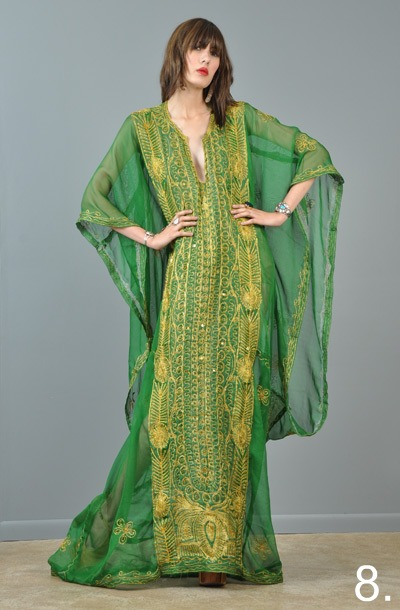 8-vtg-70s-peacock-kimono-embroidered-metallic-sheer-gypsy-cape-boho-maxi-dress