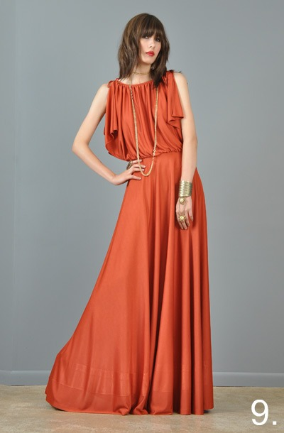 9-vtg-70s-rust-ultra-draped-grecian-goddess-boho-cape-back-maxi-dress-xs-m
